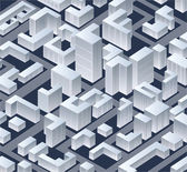 изометрический город — Стоковое фото