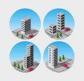 Vector stad — Stockvector
