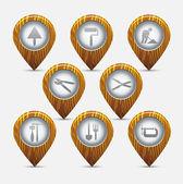 Icons set — Stock Vector