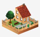сельские дома — Cтоковый вектор