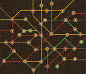 Metrokaart — Stockvector