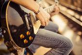 Gitarist — Stockfoto