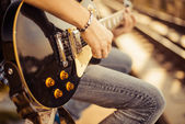 Guitar player — Stock Photo