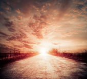 Sunset road — Stock Photo