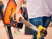 цикл гитарист — Стоковое фото
