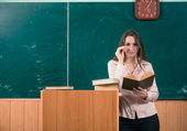 Teacher with book — Stock Photo