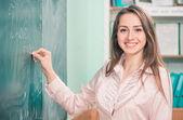 Happy teacher — Stock Photo