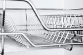 Stainless Rack — Stock Photo