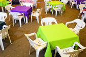 Children's Party Chairs and Tables — Stock Photo