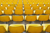 Yellow Bleacher Seats — Stock Photo