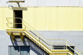 Yellow Industrial Stairs — Stock fotografie