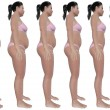 Weight Loss Progress Side View — Stock Photo #13535465