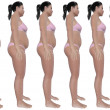 Weight Loss Progress Side View — Stock Photo