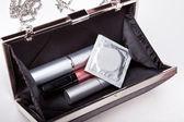 The contents of women's handbags — Stock Photo