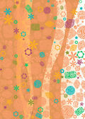 Vertical floral backdrop — Stock Vector