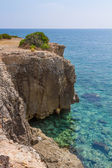 Cliff on Arenella, Siracusa — Stock Photo