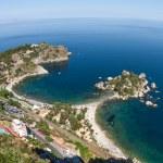 Isola bella, a small island near Taormina, Sicily — Stock Photo