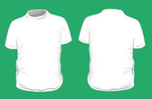 Blank t-shirt template. Front and back — Stock Vector