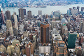 New York City Manhattan midtown aerial panorama view with skyscr — Stock Photo