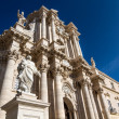 The Cathedral (Duomo) of Ortigia in Syracuse, Sicily, Ital — Stock Photo