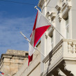 Malta Flag in Blu Sky — Stock Photo #32760043