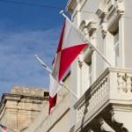 Malta Flag in Blu Sky — Stock Photo