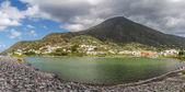 Salina lake, sicily, italy — Stock Photo