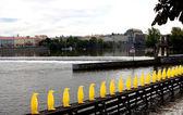 řeka v praze — Stock fotografie