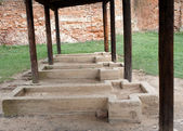 Mass graves in Terezin — Stock Photo