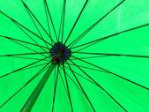 Green color umbrella — Stock Photo