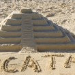 Stock Photo: Sand sculpture of Chichen Itza