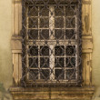 Royalty-Free Stock Photo: Old window with ornamental bars.