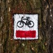 Cycling trail symbol — Stock Photo