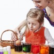 Stock Photo: Easter eggs painting
