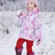 Girl with snow ball — Stock Photo #8419815