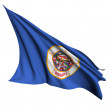 Stock Photo: Minnesota flag - USA state flags collection