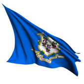 Connecticut flag - USA state flags collection — Stock Photo