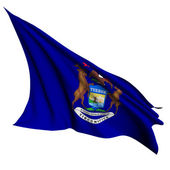 Michigan flag - USA state flags collection — Stock Photo