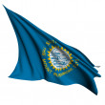 South Dakota flag - USA state flags collection — Stock Photo #12044759