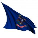 North Dakota flag - USA state flags collection — Stock Photo