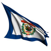 West Virginia flag - USA state flags collection — Stock Photo