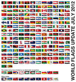WORLD FLAGS Gallery Update July 2012 New flags — Stock Photo