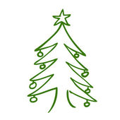Christmas tree doodle — Stock Vector