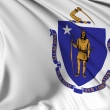 Massachusetts Flag — Stock Photo