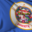 Minnesota Flag - Stock Photo