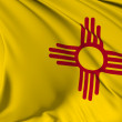 New Mexico flag — Stock Photo