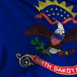 North Dakota flag — Stock Photo