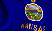 Kansas Flag — Stock Photo