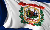 West Virginia flag — Stock Photo