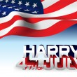 USA flag Happy 4th of July — Imagen vectorial